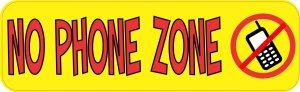 Yellow No Phone Zone Magnet