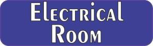 Blue Electrical Room Magnet