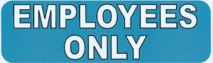Blue Employees Only Magnet