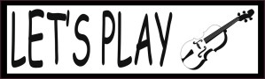 Let's Play Violin Bumper Sticker