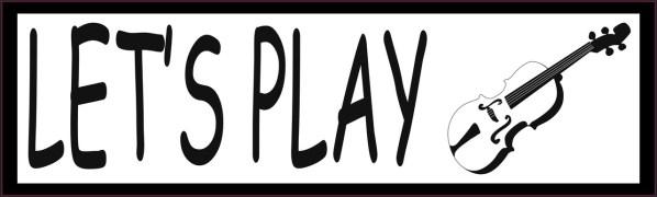 Let's Play Violin Bumper Sticker