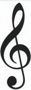 Treble Clef Sticker