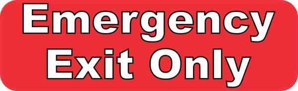 Red Emergency Exit Only Magnet