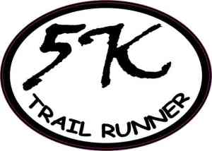 Oval Trail Runner 5K Sticker