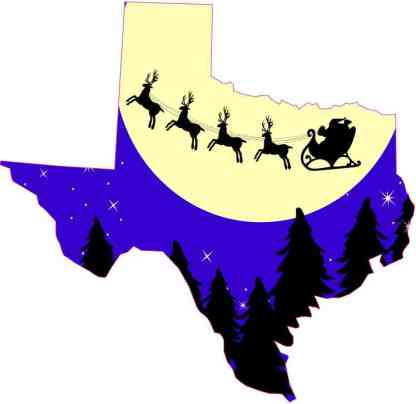 Texas Santa Claus Sticker