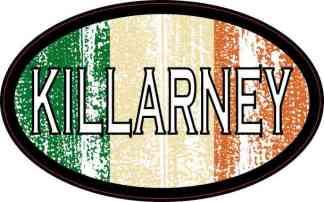 Oval Irish Flag Killarney Sticker