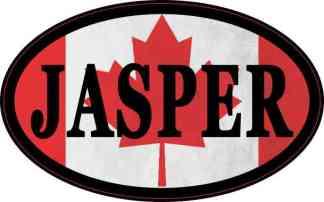 Oval Canadian Flag Jasper Sticker