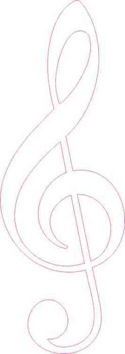 White Treble Clef Sticker