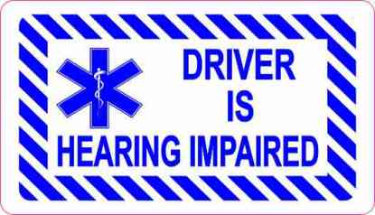 Driver Is Hearing Impaired Sticker
