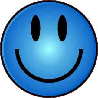 Blue Happy Face Sticker