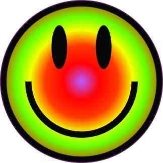 Colorful Happy Face Sticker