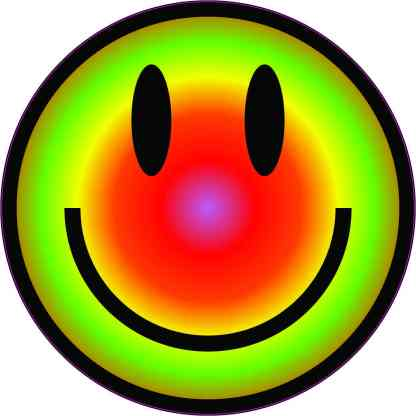 Colorful Happy Face Sticker