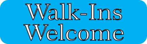 Blue Walk-Ins Welcome Magnet