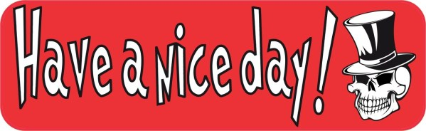 Skull Have a Nice Day Magnet