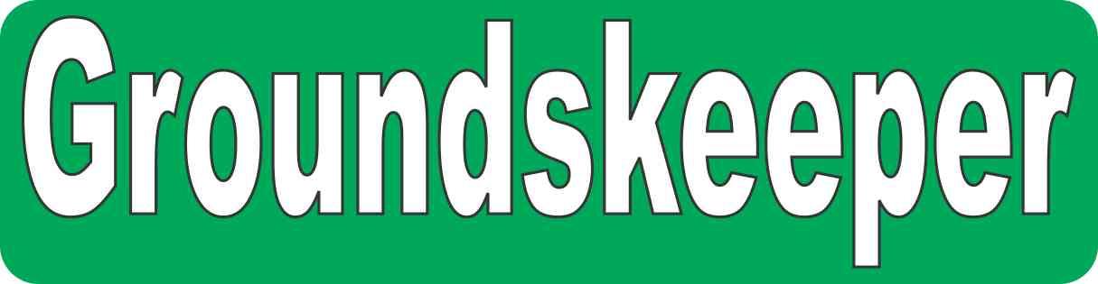 Green Groundskeeper Sticker