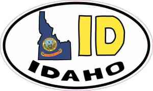 Oval ID Idaho Sticker