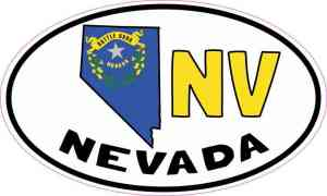Oval NV Nevada Sticker
