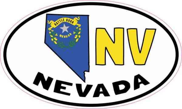 Oval NV Nevada Sticker