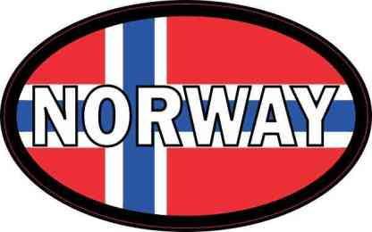 Flag Oval Norway Sticker