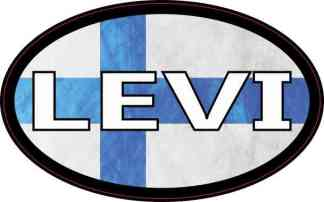 Oval Finnish Flag Levi Sticker