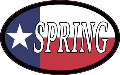 Oval Texan Flag Spring Sticker