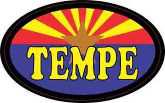 Oval Arizonan Flag Tempe Sticker