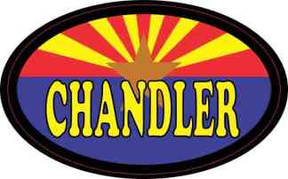 Oval Arizonan Flag Chandler Sticker