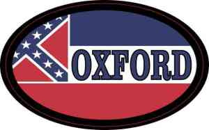 Oval Mississippi Flag Oxford Sticker