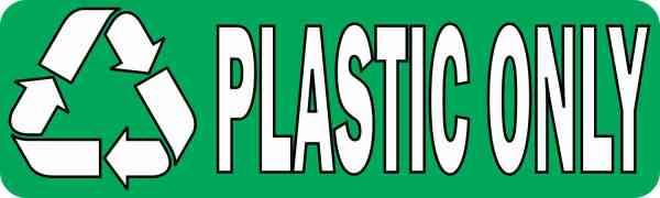 Plastic Only Permanent Vinyl Sticker