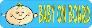 Blue Baby on Board Bumper Sticker