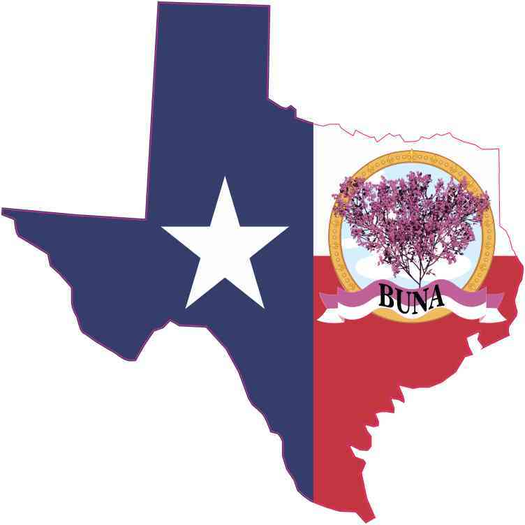 Die Cut Texas Buna Redbud Sticker