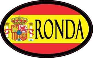 Oval Spanish Flag Ronda Sticker