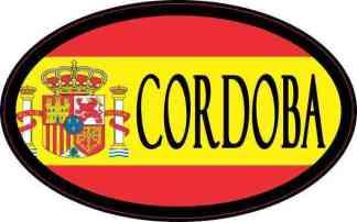 Oval Spanish Flag Cordoba Sticker