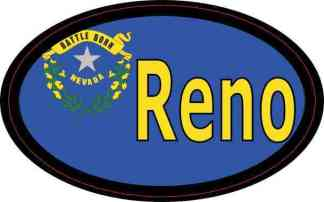Oval Nevada Flag Reno Sticker