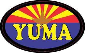 Oval Arizonan Flag Yuma Sticker