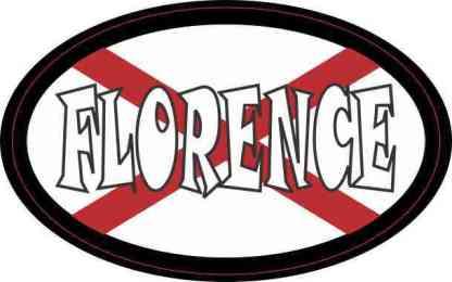 Oval Alabaman Flag Florence Sticker