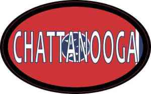 Oval Tennessee Flag Chattanooga Sticker