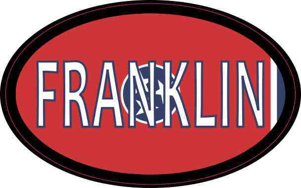 Oval Tennessee Flag Franklin Sticker