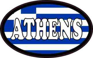 Oval Greek Flag Athens Sticker