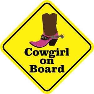 Cowgirl on Board Magnet