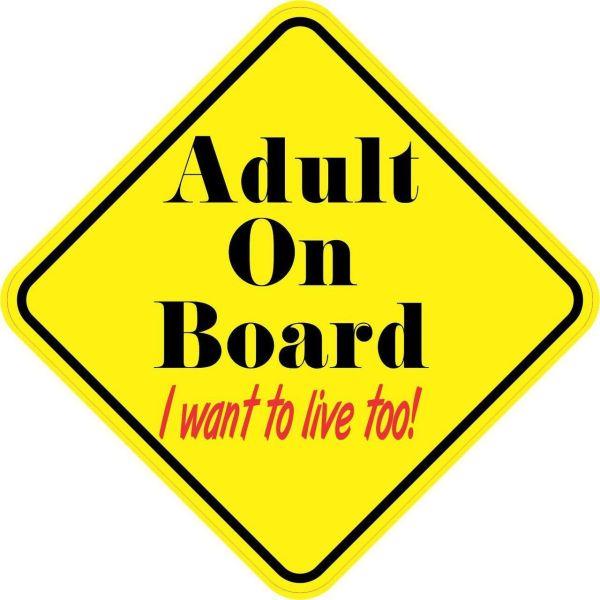 Adult On Board Magnet