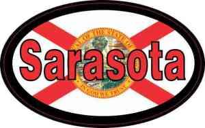Oval Florida Flag Sarasota Sticker