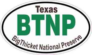 Oval Big Thicket National Preserve Sticker
