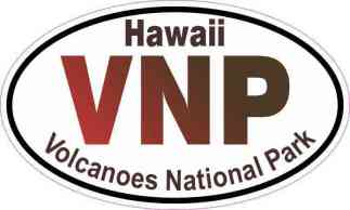 Oval Volcanoes National Park Sticker