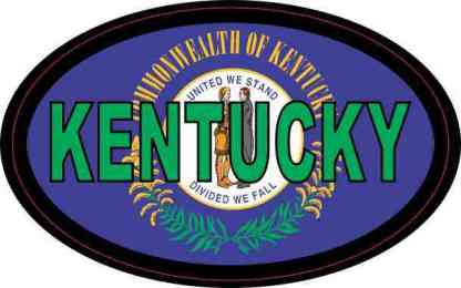 Flag Oval Kentucky Sticker
