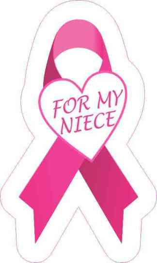 For My Niece Breast Cancer Ribbon Sticker