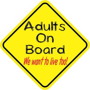 Adults On Board Magnet