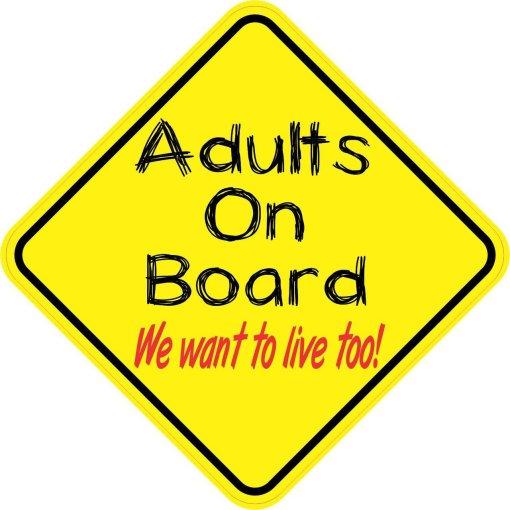 Adults On Board Sticker