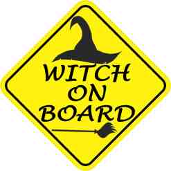 Witch On Board Magnet