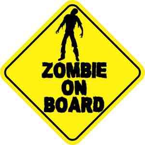 Zombie On Board Magnet